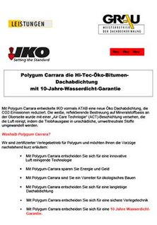 Flyer IKO-Polygum Carrara